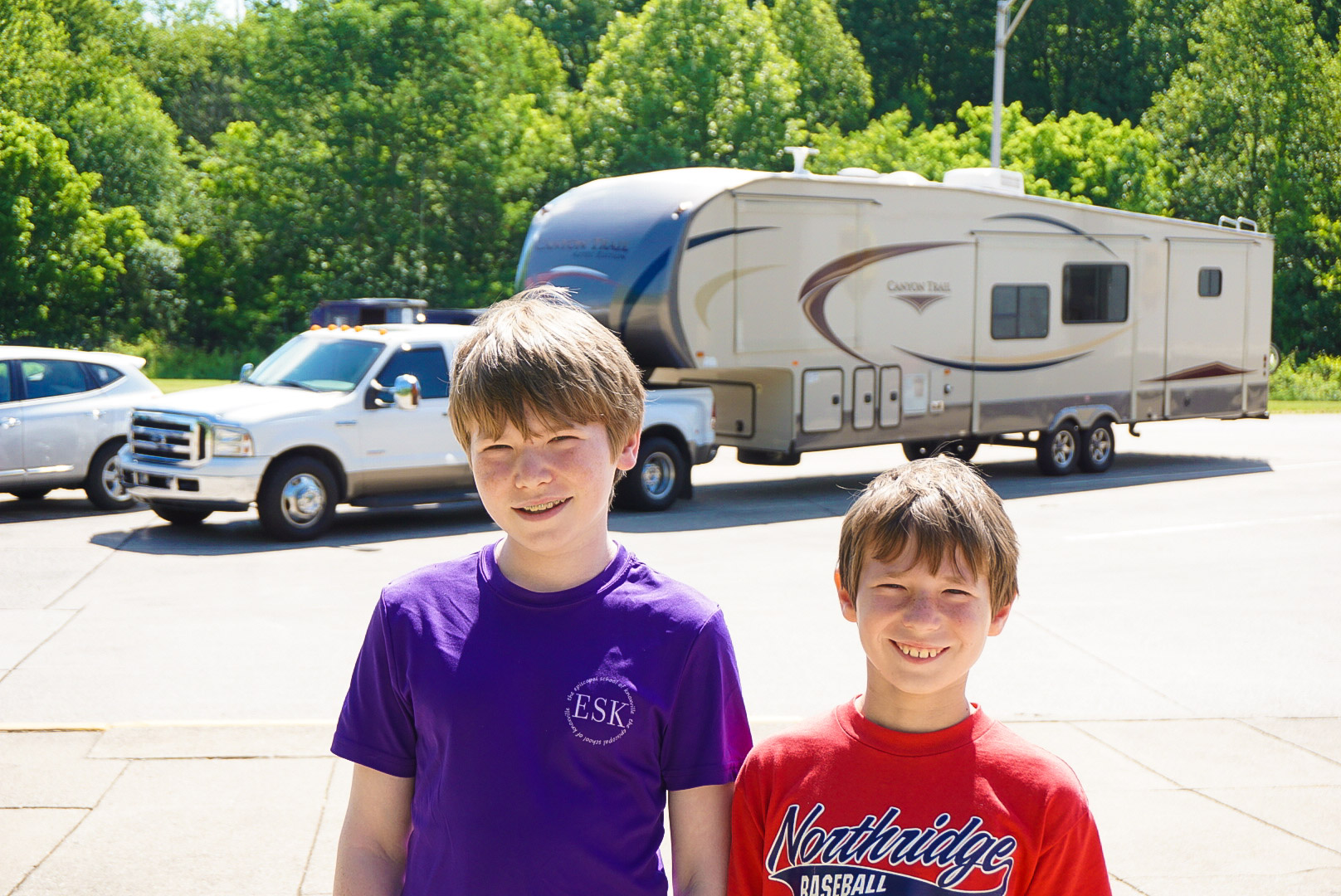 Ryan and Collin with RV