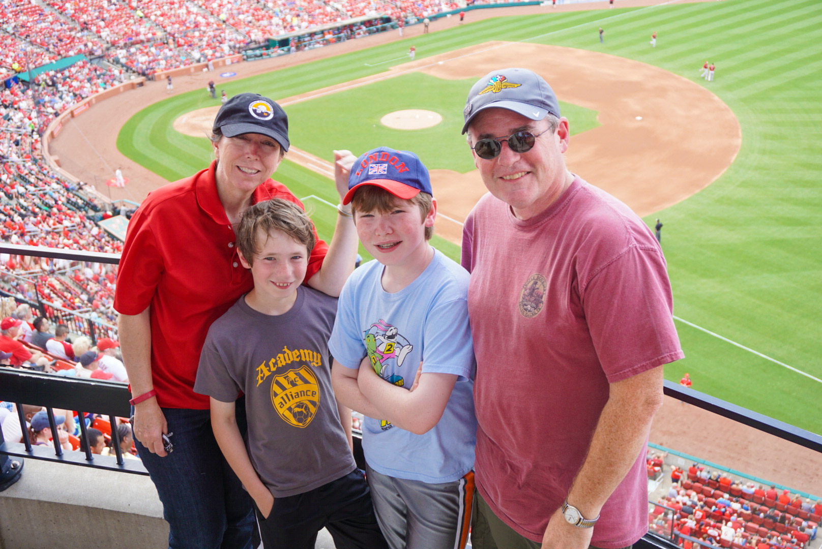 Steadman's at Busch Stadium for a Cardinals game.