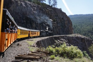 A view from the Durango & Silverton Railway