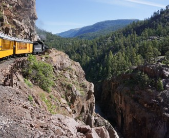 Historic Durango & Silverton Railway train