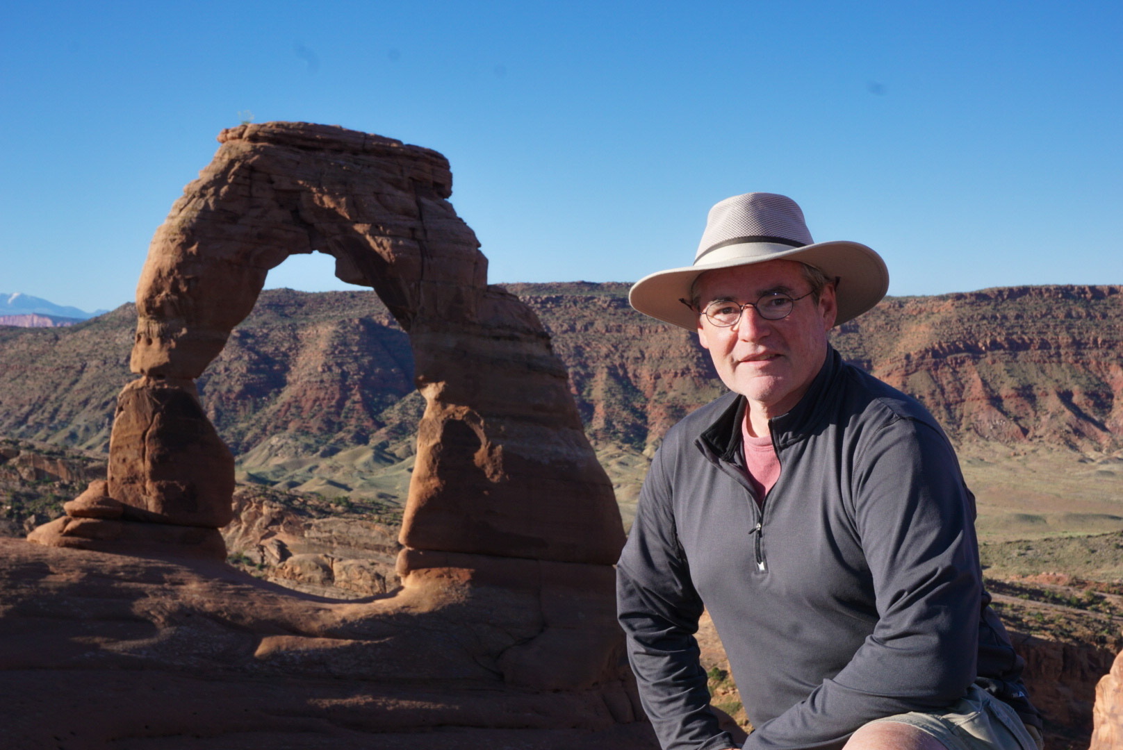 Gary at Delicate Arch, Arches National Park, UT