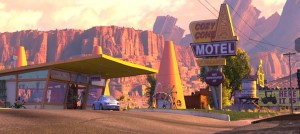 "Sally's ""Cozy Cone Motel"" from the Disney movie ""Cars"""