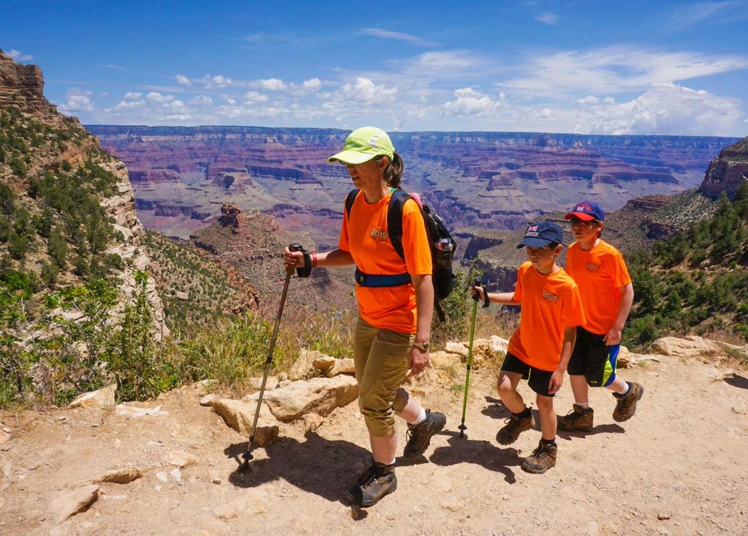 Hiking Grand Canyon Bright Angel trail.