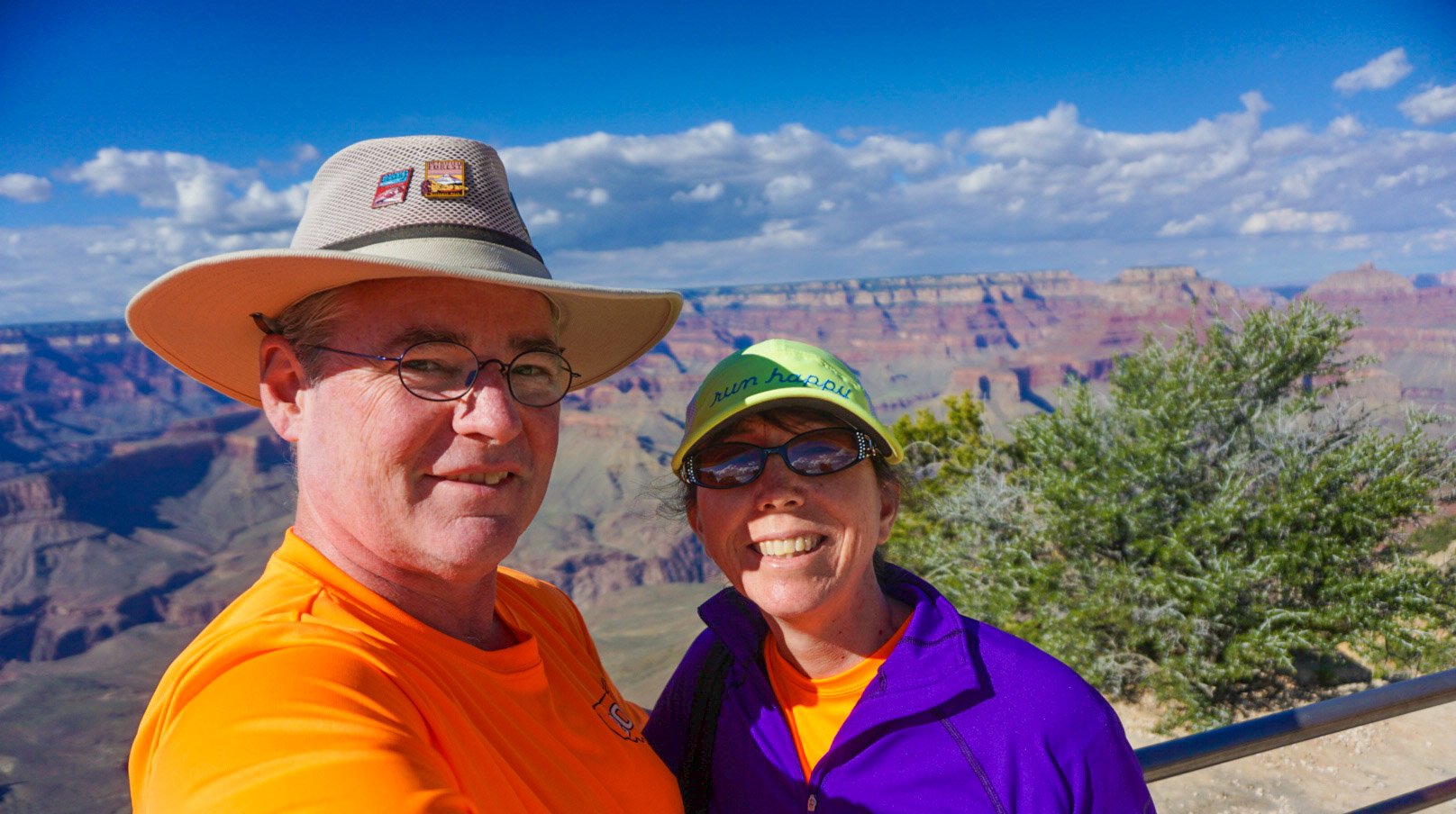 A selfie with Dawnie from the Grand Canyon south rim.