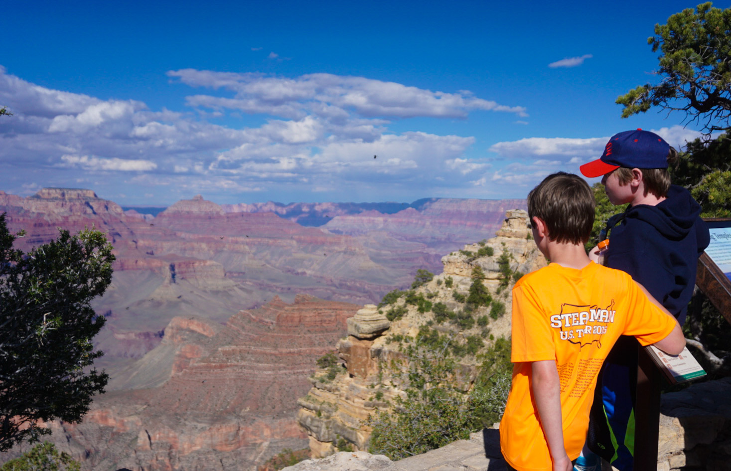 Collin and Ryan viewing the Grand Canyon
