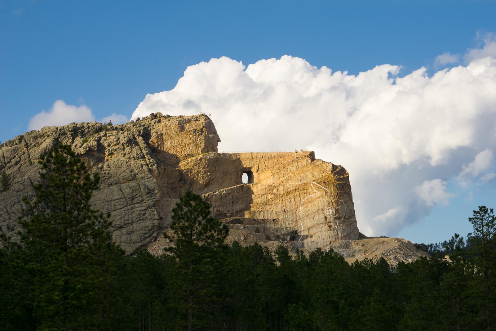 Crazy Horse Memorial mountain carving, June 2015.