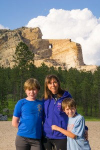 Ryan, Dawnie and Collin at Crazy Horse Memorial.