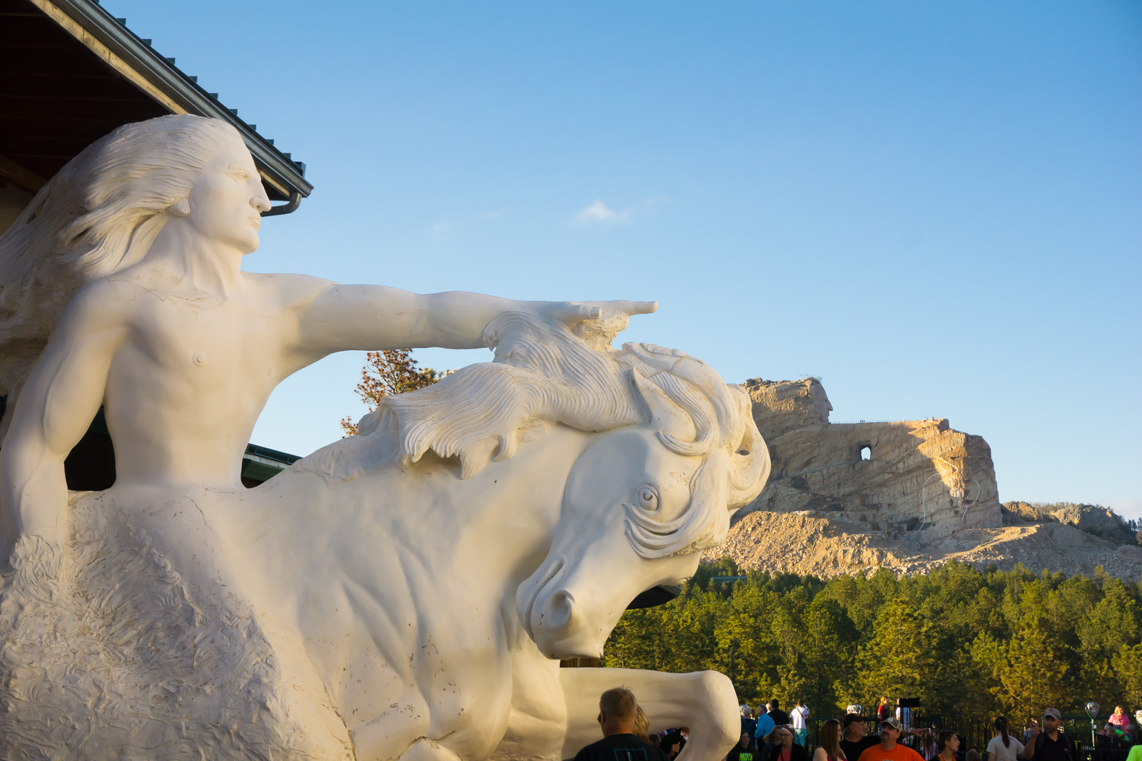 Crazy Horse Memorial scale reference sculpture.