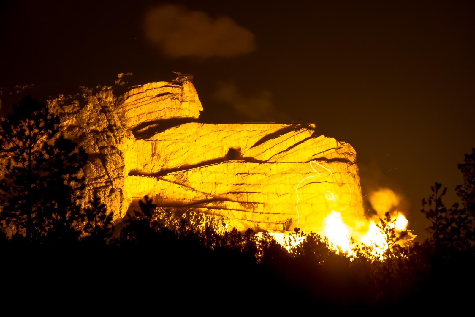 """Crazy Horse Memorial """"night blast""""!"""