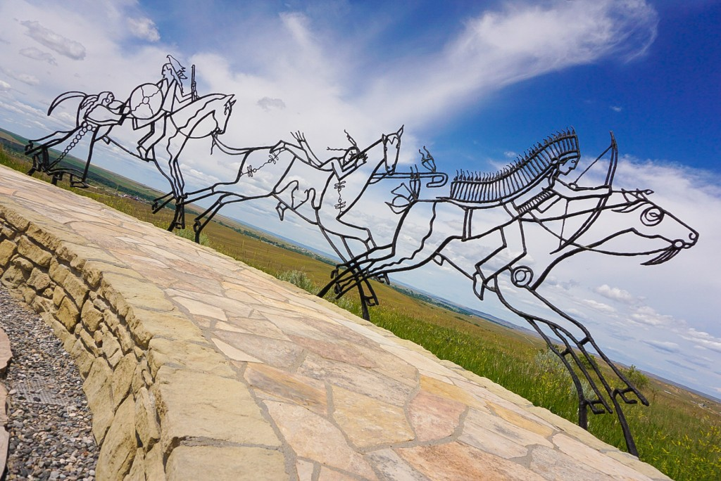 Battle of Little Bighorn memorial to Native American warriors