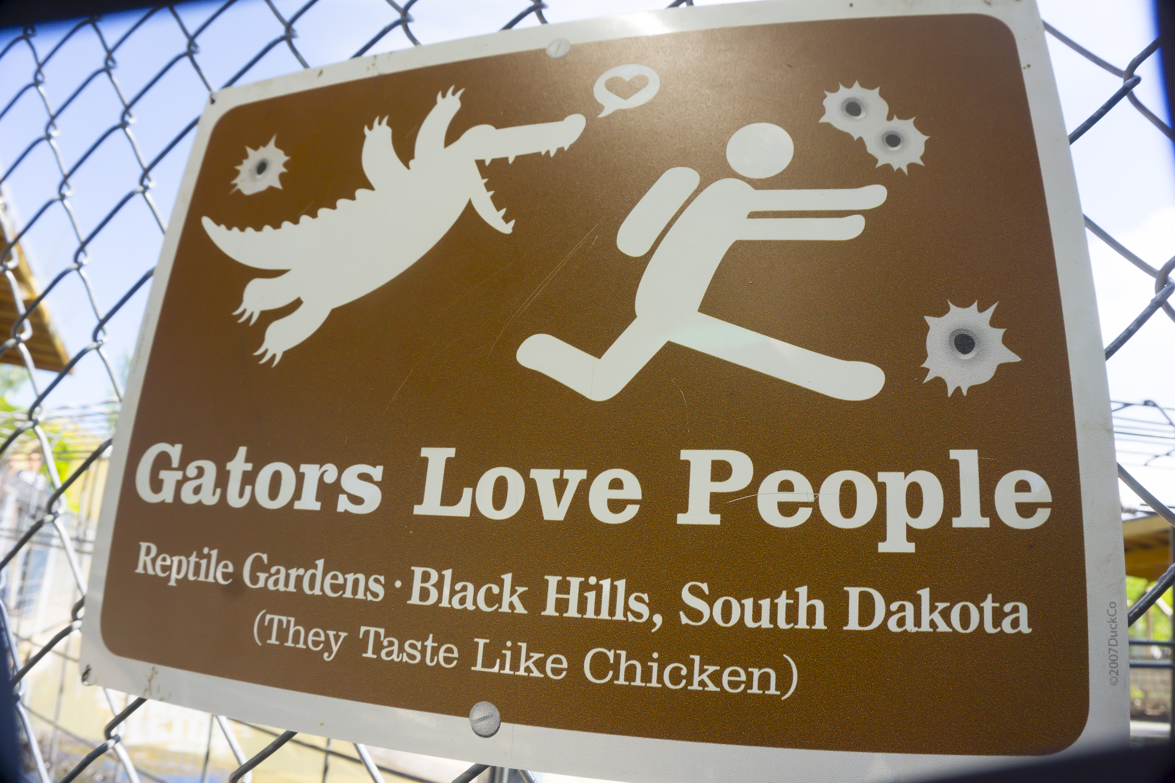 Funny sign at Reptile Gardens, Rapid City, SD