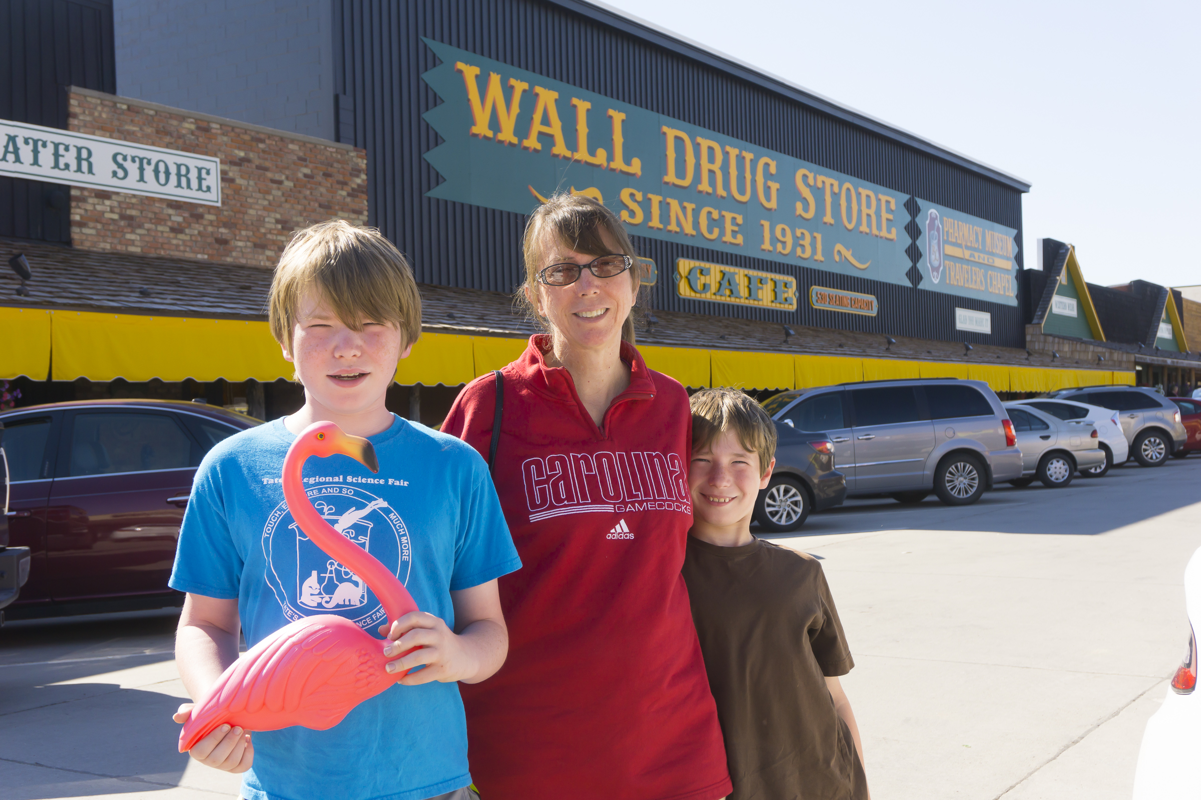Visiting Wall Drug Store, Wall, SD
